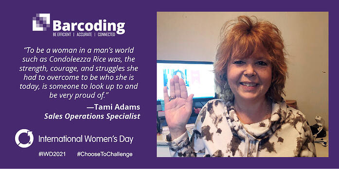 To be a woman in a man's world such as Condoleezza Rice was, the strength, courage, and struggles she had to overcome to be who she is today, is someone to look up to and be very proud of. Tami Adams Sales Operations Specialist