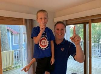 Matt Cunningham and his nephew