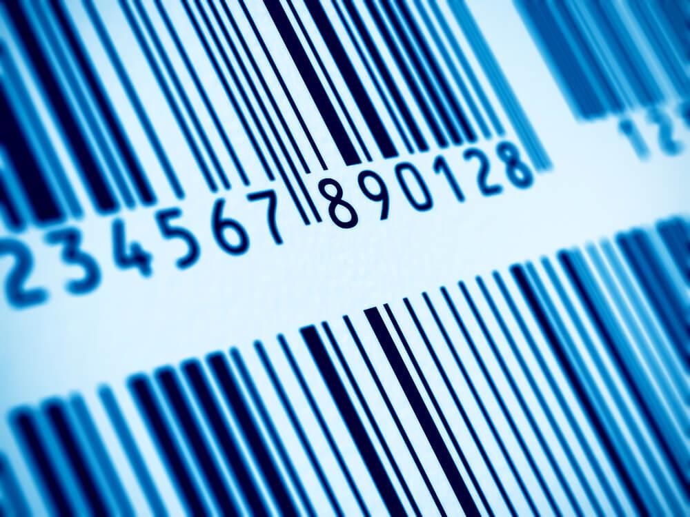 Close up of barcode