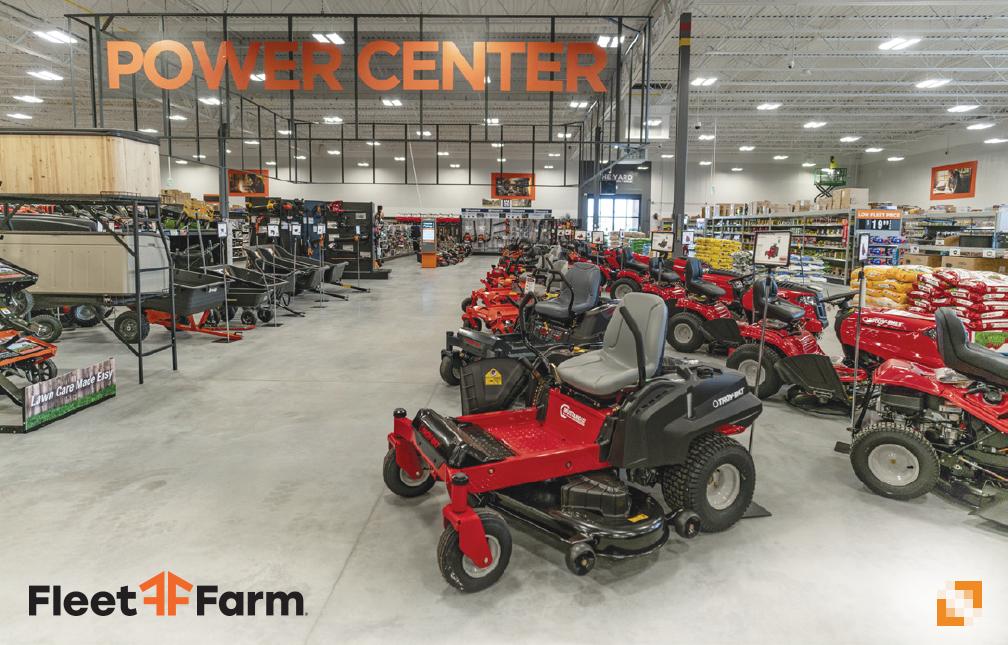 Riding lawn mowers in a Fleet Farm Power Center