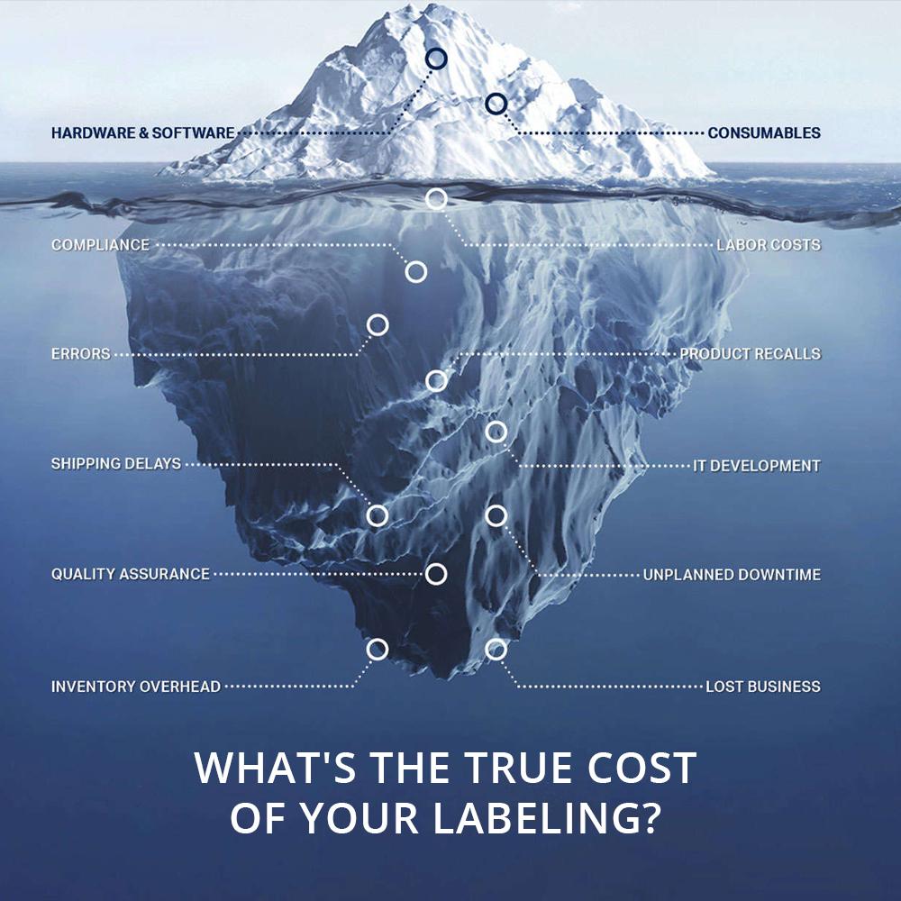 Iceberg graphic with label