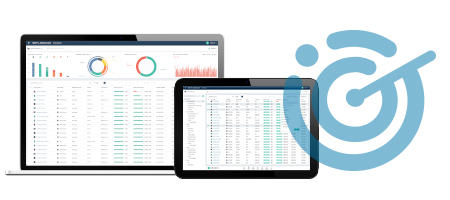 SOTI metrics presented on a laptop and tablet