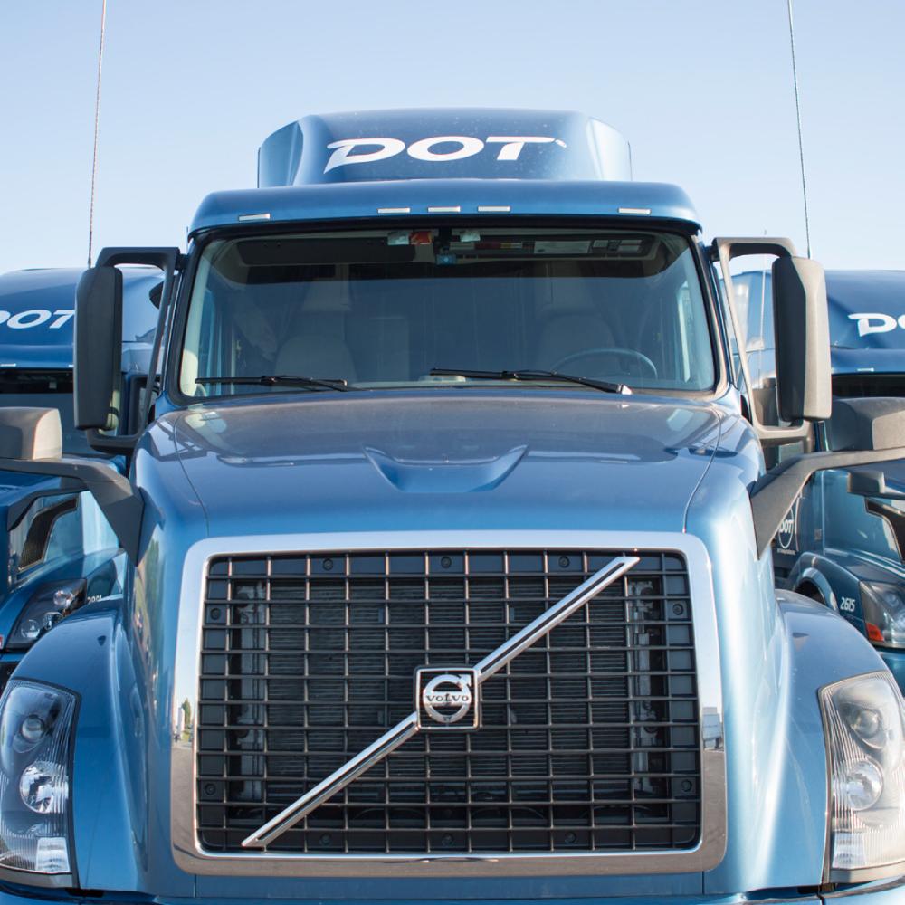 Dot Foods Volvo semi truck cab